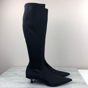 Zara Black Tall Sock Boots